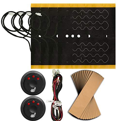 Sojoy Universal Retrofit Insert Heated Seat Heater Kits (2 Seats) (12x13)