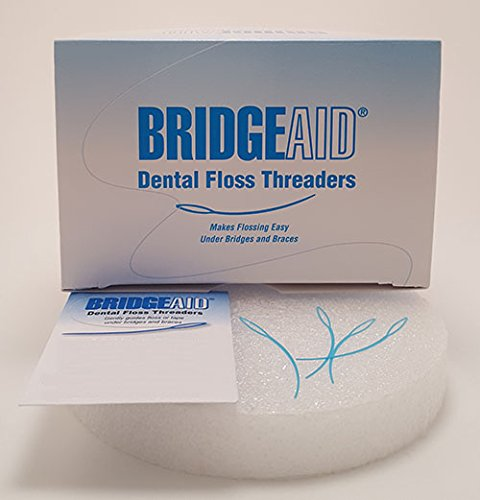 BridgeAid FlossAid Dental Floss Threaders 10/pack BUY 10 Packs Get 2 FREE (120 total)