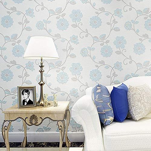 kengbi Fácil de decorar popular duradero papel pintado de 10 metros tridimensional no tejido 3D romántico pastoral cálido dormitorio sala de estar cabecera TV fondo fondo papel pintado