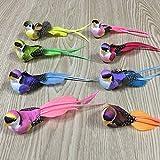 FGASAD Paquete de 12 plumas de simulación de pájaros, mini