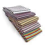 5x 0,25m Bündchenstoff Set Schlauchware 95% Baumwolle, 5%