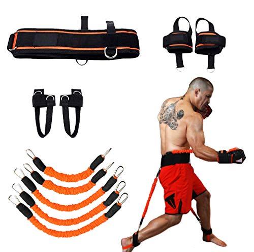 YNXing Fuerza de Las piernas y Sistema de Correas de Entrenamiento de la Agilidad Cuerda de Entrenamiento de la Fuerza para el Fútbol Baloncesto Taekwondo Yoga Equipos de Boxeo (Naranja 250lb)