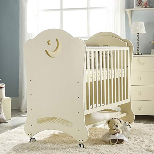 Sale!! DUWEN Wooden Baby Cot Multifunctional European Crib Convertible to 3 Positions Toddler Bed St...
