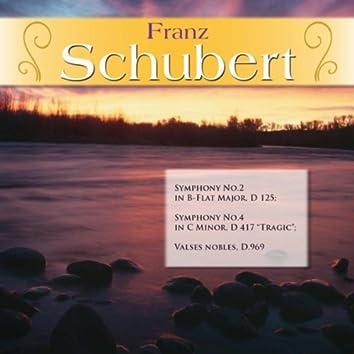 """Franz Schubert: Symphony No.2 in B-Flat Major, D 125; Symphony No.4 in C Minor, D 417 """"Tragic""""; Valses nobles, D.969"""
