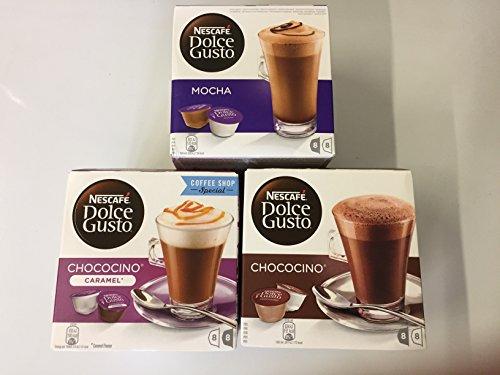 Dolce Gusto Mocha, Chococino & Choco Caramel 3 box set