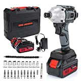 Impact Driver with 2 Battery, KINGSHOWDEN Cordless Impact Driver 18V,...