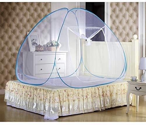 TTSDRD Moustiquaires de lit Tente Pop-up Portables, Pliage de moustiquaires d'installation, yurts étudiants,180 * 200cm