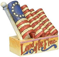 "Patriotic Flag ""Land of the Free"" Figurine"