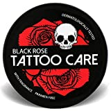Tattoo Care Ointment with Natural Ingredients, Black Rose - 1.23 Oz Moisturizing Cream, Tattoo Brightener Balm, Enhances Tattoo Colors, Promotes Healing, Protects, New & Older Tattoo Aftercare Lotion