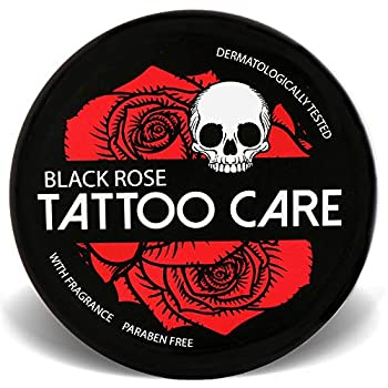 Tattoo Care Ointment with Natural Ingredients Black Rose - 1.23 Oz Moisturizing Cream Tattoo Brightener Balm Enhances Tattoo Colors Promotes Healing Protects New & Older Tattoo Aftercare Lotion