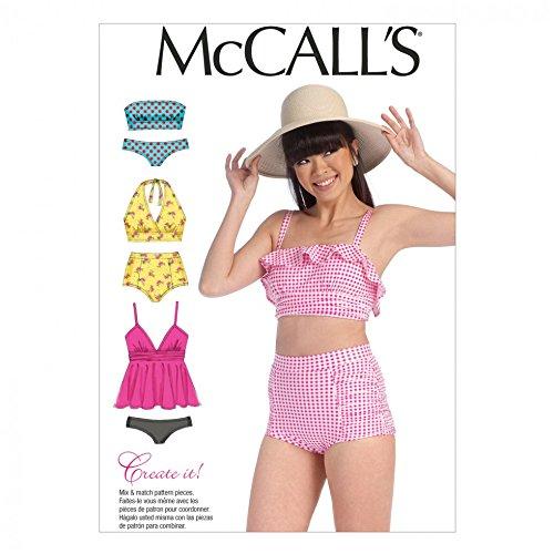 McCall 's Mädchen Schnittmuster 7168Bikini swinsuits + Gratis Minerva Crafts Craft Guide