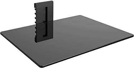 WALI CS201-1 Floating Wall Mounted Shelf with Strengthened Tempered Glasses for DVD Players,Cable Boxes, Games Consoles, TV Accessories, 1, Black