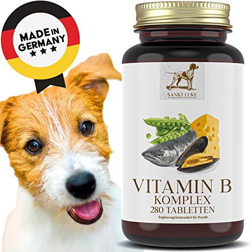 SANKT LUKE Vitamin B Komplex Hunde/Katzen - 6 bis 12 Monate Vorrat, Hochdosiert, Vitamine B1, B2, B3, B5, B6, B12, K3 & Folsäure für jedes Alter und alle Rassen (280 Tabletten)