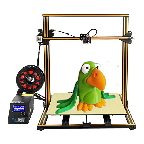 Creality CR10 S5 3D Printer FDM DIY Kit Large Printing Size with Dual Z-axis, Filament Detector,Double Motor Screw. 500x500x500mm Orange