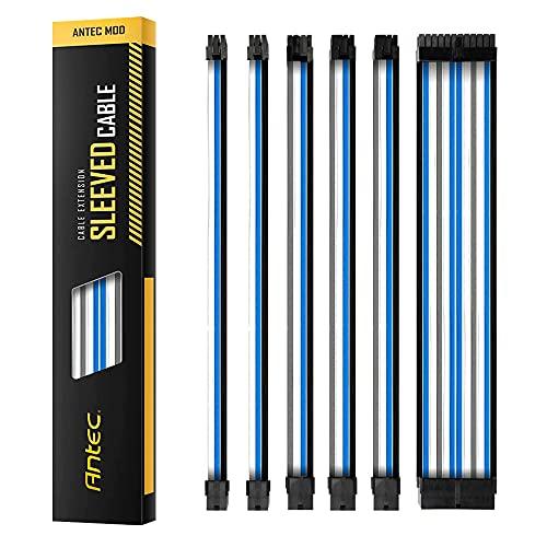 Antec Power Supply Sleeved Cable Kit Negro Adaptador de Cable,Black/White/Gray/Blue