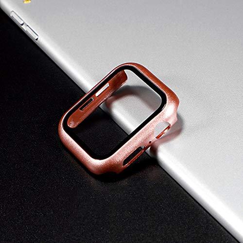 Funda para Apple Watch caso 44mm 40mm para iWatch 42mm 38mm parachoques vidrio templado 44 42 38 42mm para Apple Watch Series 4 3 5 SE 6