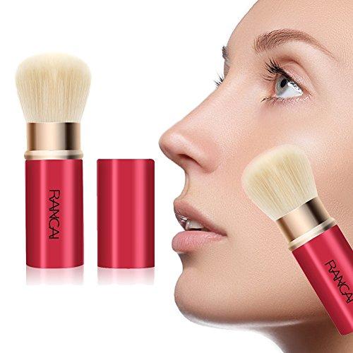 Allbesta Einziehbarer Kabuki Pinsel für Make-Up Puder Foundation Blending Blush, mit besonders...