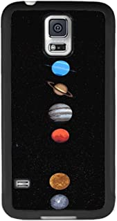 Samsung Galaxy S5 Phone Case, Solar System Planets Slim Anti-Scratch Automobile TPU PC Protective Shockproof Black Full Cover for Samsung Galaxy S5