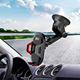 Aokeo Car Phone Mount, Washable Strong Sticky Gel Pad with One-Touch Design Dashboard Car Phone Holder for iPhone X/XS/8/8Plus/7/7Plus/6s/6Plus, Galaxy S7/S8/S9/S10, Google Nexus, LG, Huawei