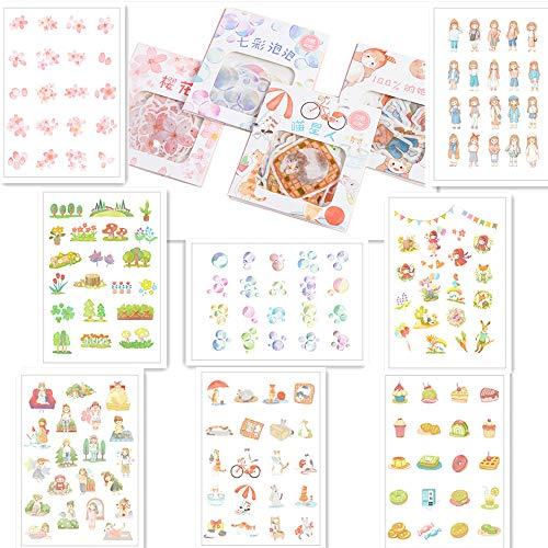 40枚入り×8点セット 手帳シール かわいい いろいろなシール 子供 ステッカー 人気 日記 (多種?)
