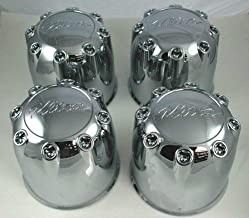 Gosweet 4 pieces Brand NEW Set For ULTRA CHROME WHEEL 8 LUG CENTER CAP 89-8114 80181660F-2 / C800901 LG0710-34 Ultra A898114 Wheel Center Caps With Screws Kit US Shipment