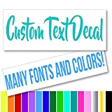 Custom Text Font Name Decal Sticker Compatible with Yeti Tumbler Cup, Laptop, Phones, Boats, and Vehicles (Glitter Colors Available)