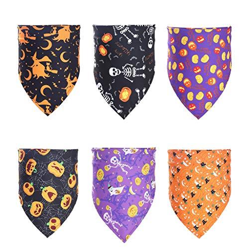 Cdoohiny hdgcb - Pañuelo de Halloween para decoración de Halloween (6 unidades), diseño de triángulo