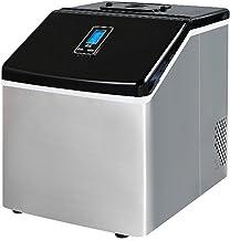 Machine À Glaçons, 24 Glaçons Prêts en 12 Minutes, 25 Kg / 24 H, Affichage LED, Fonction De Nettoyage Automatique, Petite ...