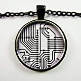 Heng yuan tian cheng - Collar con placa de circuito electrónico y tecnología informática, collar...