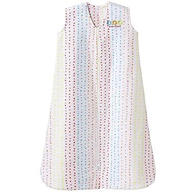 Halo Sleepsack Microfleece Wearable Baby Blanket, Vertical Multi Dot, Size Medium