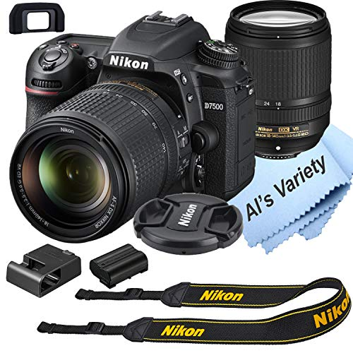 Nikon D7500 DSLR Camera Kit with 18-140mm VR Lens | Built-in Wi-Fi | 20.9 MP CMOS Sensor | EXPEED 5 Image Processor and Full HD 1080p Video Recording at 30 fps| SnapBridge Bluetooth Connectivity