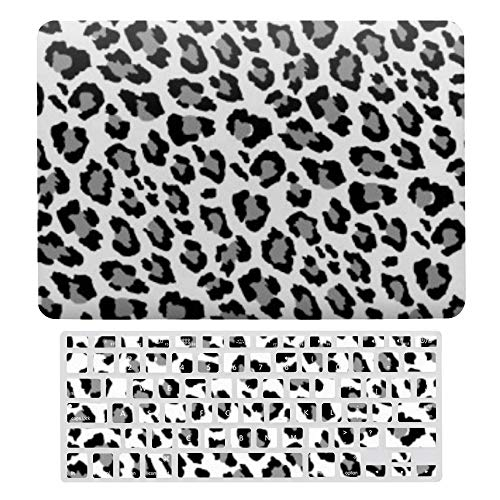 Macbook Air 13 Inch Case(A1369 & A1466, Older Version 2010 2017 Release), Plastic Hard Protective Laptop Case Shell With Keyboard Cover, Leopard Spots Black And White Animal