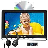 Naviskauto 12 Pouce Lecteur DVD pour Voiture Enfant avec Cable AV et Ecouteur Ecran d'appui tête Inhalation Design Soutient Dernière mémoire Région Libre USB SD
