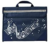 Musicwear?s Wavy Stave Music Bag in navy blue is a cool bag to store your music books and accessories - the perfect solution to keep all your music together to take it to and from music lessons! Key features Blue nylon bag with white wavy stave music...