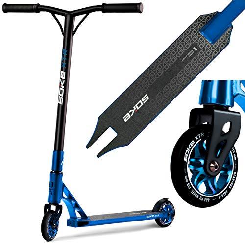 SOKE Stunt Scooter XTR Kickscooter ABEC 9 Kugellager Roller Trettroller für Erwachsene und Kinder BLAU