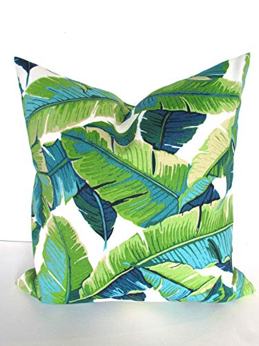 Flowershave357 Pillows Turquoise Lime Green Indoor Outdoor Throw Pillow Covers Teal Blue Outdoor Pillow Covers Aqua Tropical Pillows