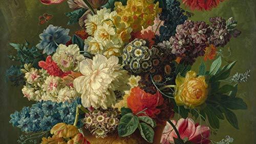 Bloemenpatroon in de vaas - 1000 stuks houten puzzels, van hoge kwaliteit en grootte, een goed cadeau voor vrienden