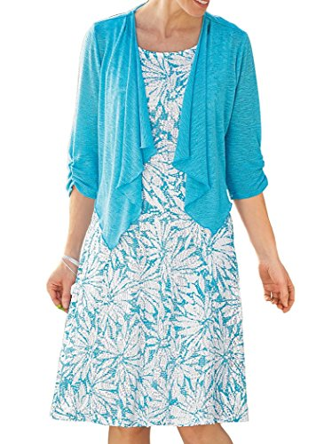Perceptions New York Lace Jacket Dress Turquoise 18 Women