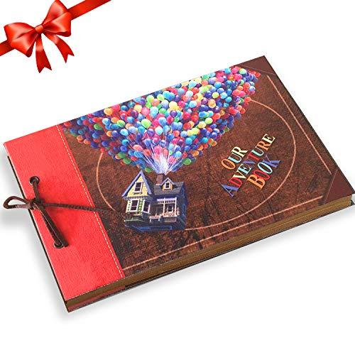 Yango Album Foto,Our Adventure Book con Copertina di Lettere 3D,Guest Book Matrimonio Ottimo Regalo per Ringraziamento, Anniversario,Memoria,Familiare,Nozze,Compleanno,San Valentino