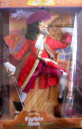 Barbie Disney Peter Pan CAPTAIN HOOK Doll Masters of Malice - 1st in Series Male Villains Limited Edition (1999)