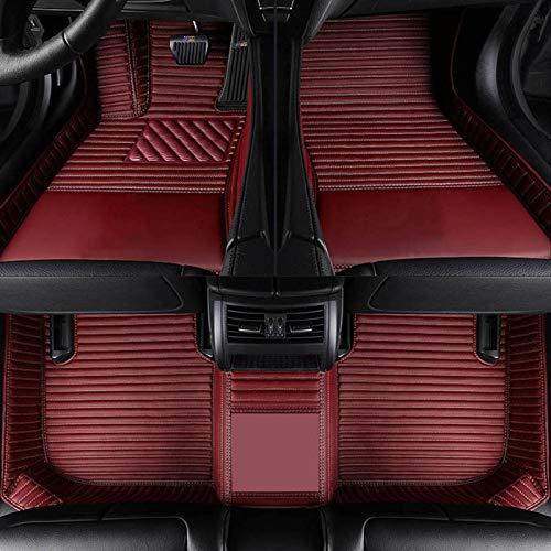 LUVCARPB Alfombrillas para Interior de Coche, aptas para Volkswagen VW Passat Polo Golf Tiguan EOS Jetta Touran Touareg, Accesorios Impermeables para alfombras