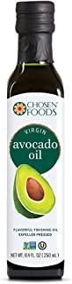 Chosen Foods Virgin Cold Pressed Avocado Oil 8.4 oz., Non-GMO, for Cooking, Baking, Homemade Sauces, Dressings and Marinades
