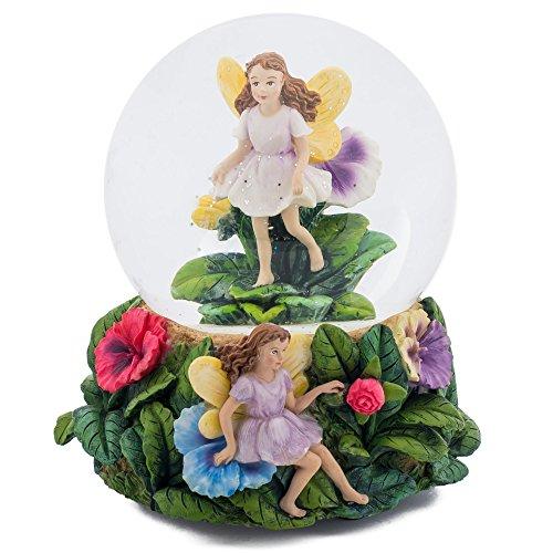 Elanze Designs Magical Fairies 100MM Music Water Globe Plays Tune Greensleeves