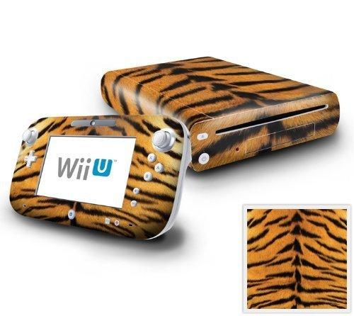 Nintendo Wii U Console and GamePad Decal skin Sticker - Tiger Skin