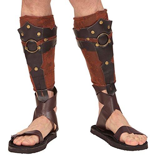 NET TOYS Römer Schienbeinschoner Gladiator Schienbeinschützer Mittelalter Kleidung Knieschoner Gladiatoren Rüstung Antike