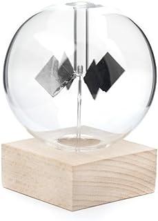 Kikkerland ST85 Radiomètre Solaire, Hêtre/Verre/Acier, Transparent, 11,8 x 11,2 x 15,9 cm