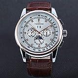 HWCOO Hermoso reloj mecánico FORSINING / 319 Hollow reloj mecánico automático con calendario de cuero reloj (Color : 2)