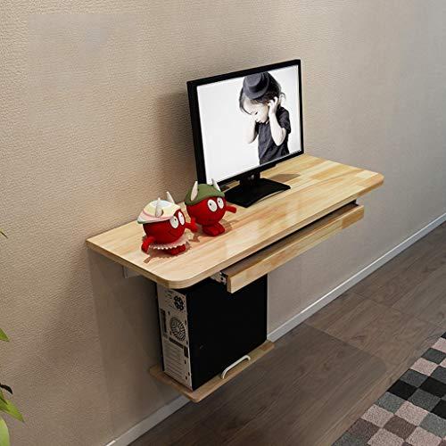 Bureau d'ordinateur Tables de Chevet Tables murales Tout-en-Un Bureaux muraux Tables murales en Bois Massif étagères flottantes Table Basse Japonaise en Bois Massif