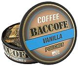 BaccOff, Premium Flavored Coffee Pouches, No Tobacco Dip, No Nicotine Smokeless Alternative Snuff, Vanilla (1 Can)