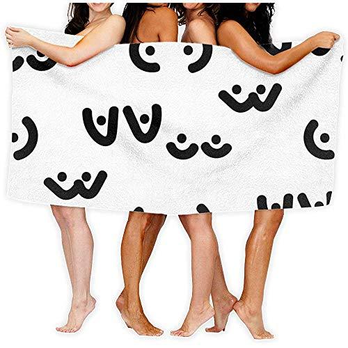 chillChur-DD Bath Towel Frau Brust Titten Badetücher, Haus, Geschäft, Dusche, Badewanne, Fitnessraum, Pool - Maschinenwaschbar, Saugfähig, Professionelle Qualität, Hohe Qualität, 80X130Cm